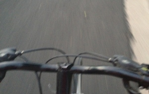 biking on the road