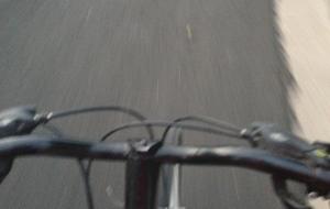 biking on the road
